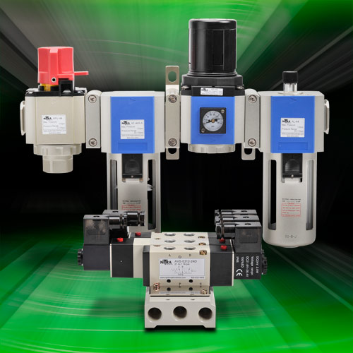 A new NITRA series of products for a broad range of pneumatic air supply pressure regulation and filtration applications.