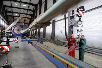 The new facility will enable engineers to perform load tests on rotor blades measuring up to 90 meters.