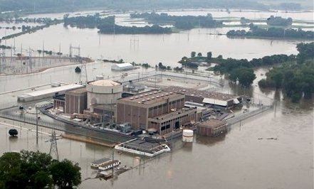 Fort Calhoun nuclear station during the flooding.