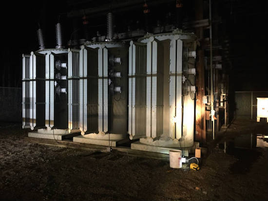 Someone shot a Heartland REMC substation transformer.