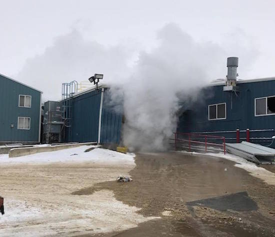 Four employees suffered severe injuries at McNeilus Truck & Manufacturing in Dodge Center, MN, after an explosion in the facility's paint booth.